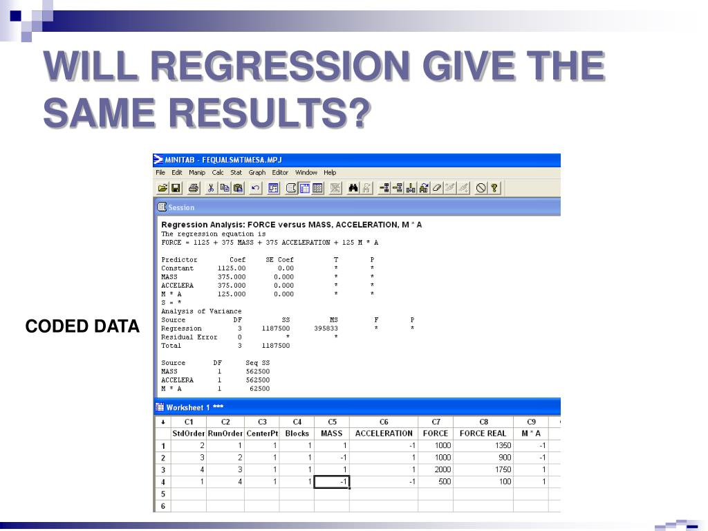 WILL REGRESSION GIVE THE SAME RESULTS?