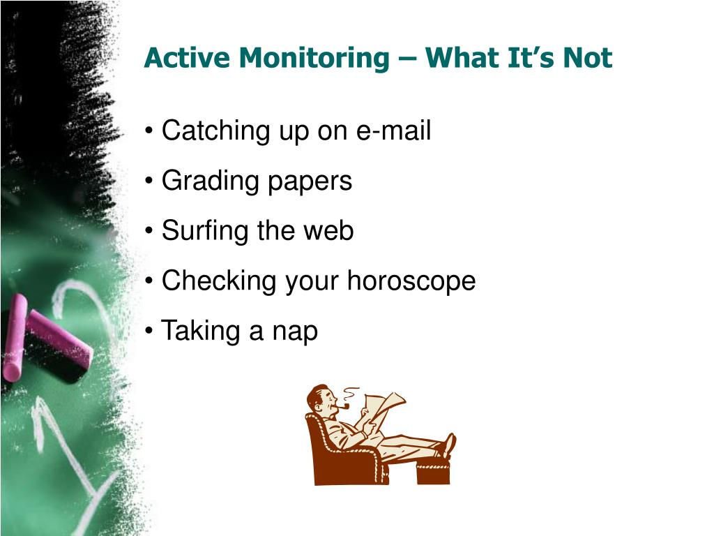 Active Monitoring – What It's Not