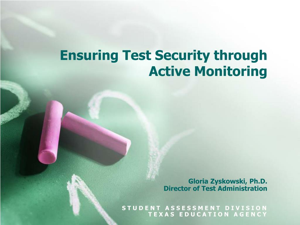 Ensuring Test Security through