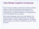 auto manejo cognitivo conductual