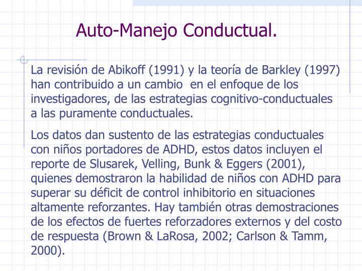 Auto-Manejo Conductual.