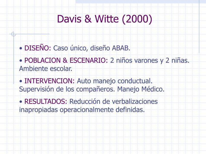 Davis & Witte (2000)