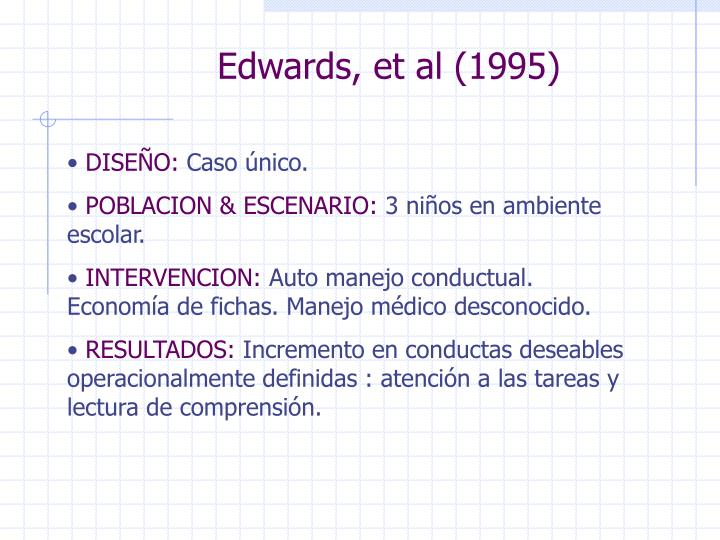 Edwards, et al (1995)