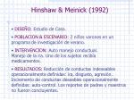 hinshaw meinick 1992