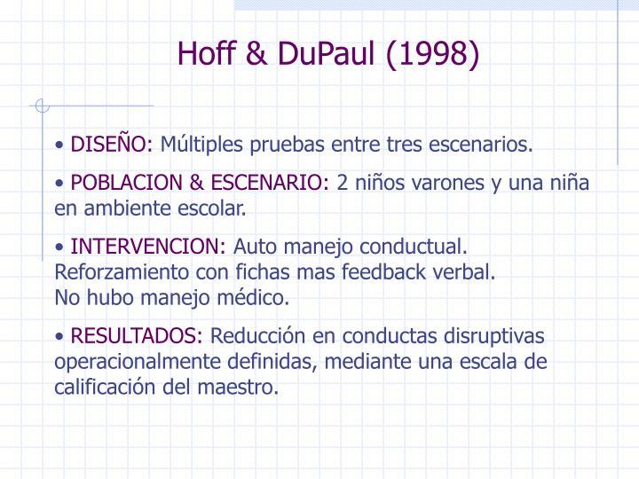 Hoff & DuPaul (1998)