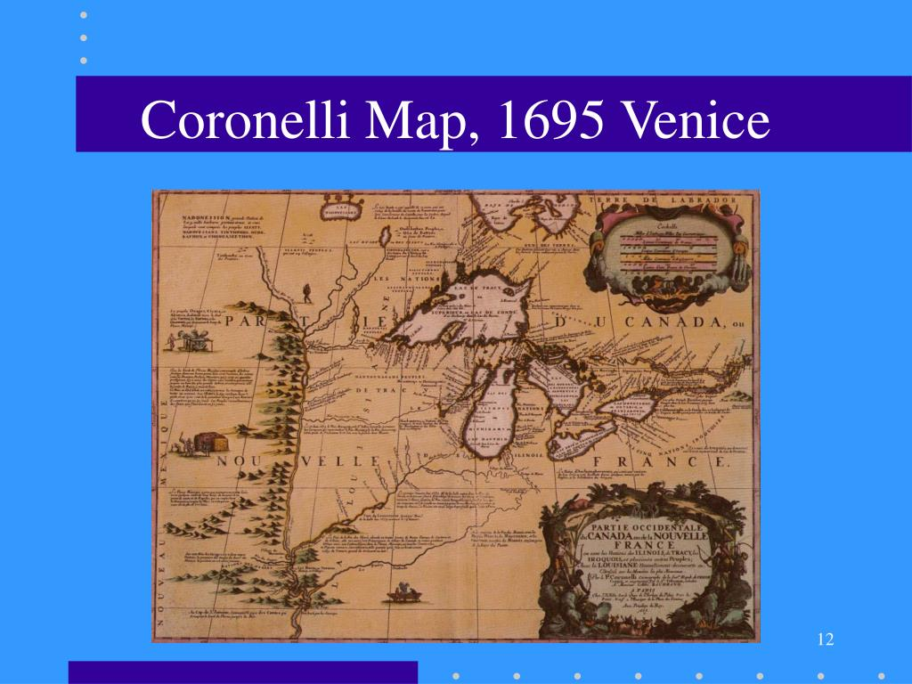 Coronelli Map, 1695 Venice