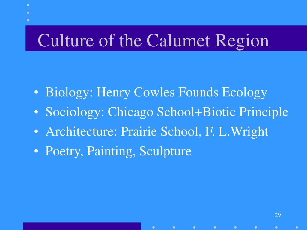Culture of the Calumet Region
