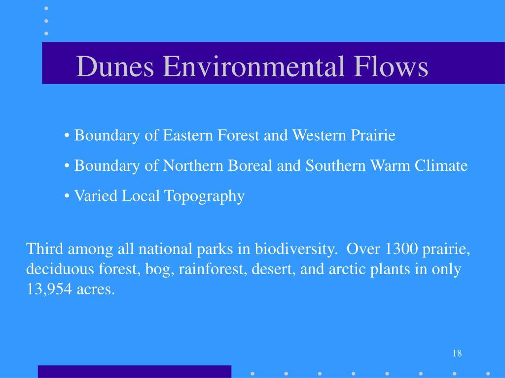 Dunes Environmental Flows