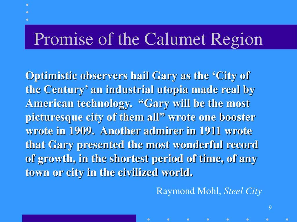 Promise of the Calumet Region