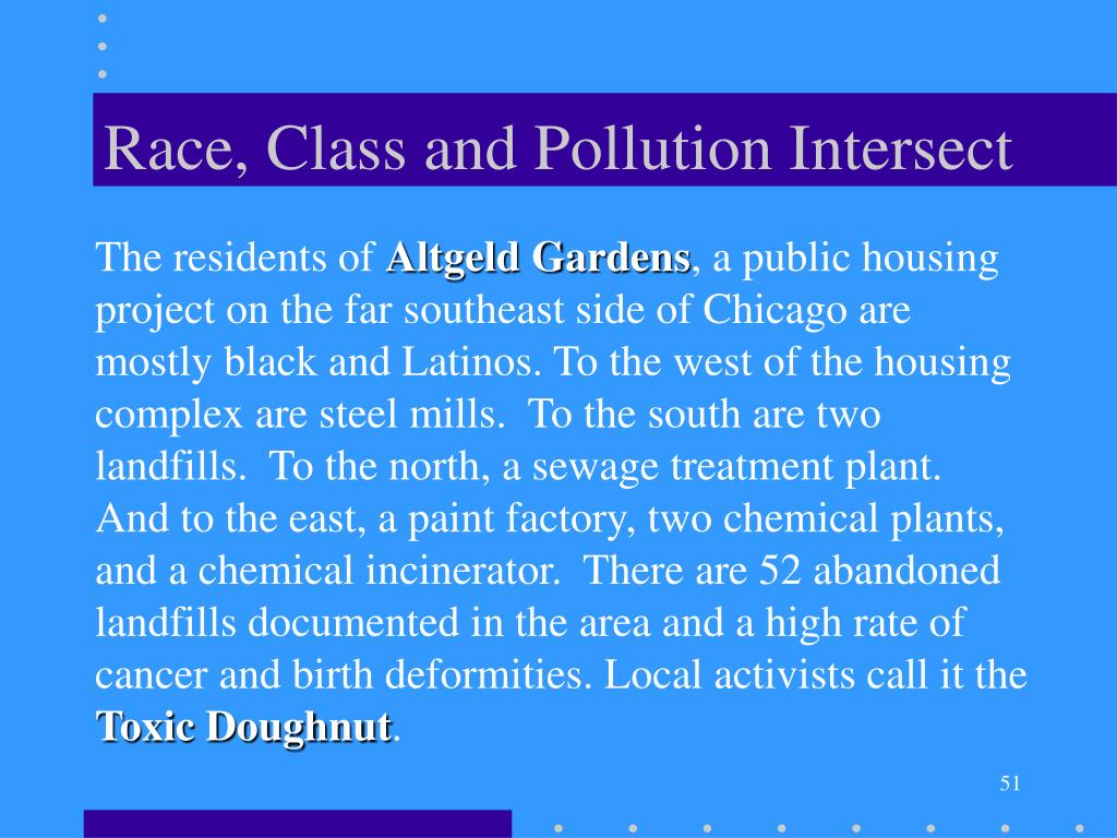 Race, Class and Pollution Intersect