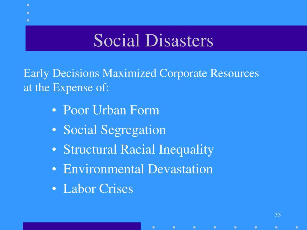 Social Disasters