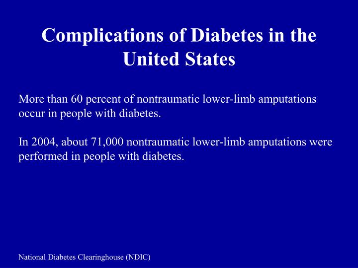 Complications of Diabetes in the United States
