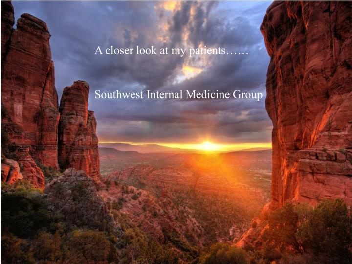 A closer look at my patients……