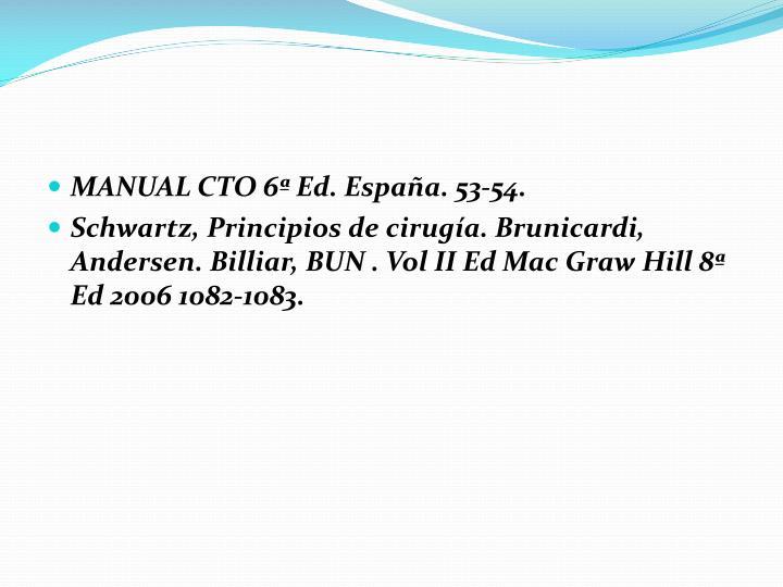 MANUAL CTO 6ª Ed. España. 53-54.