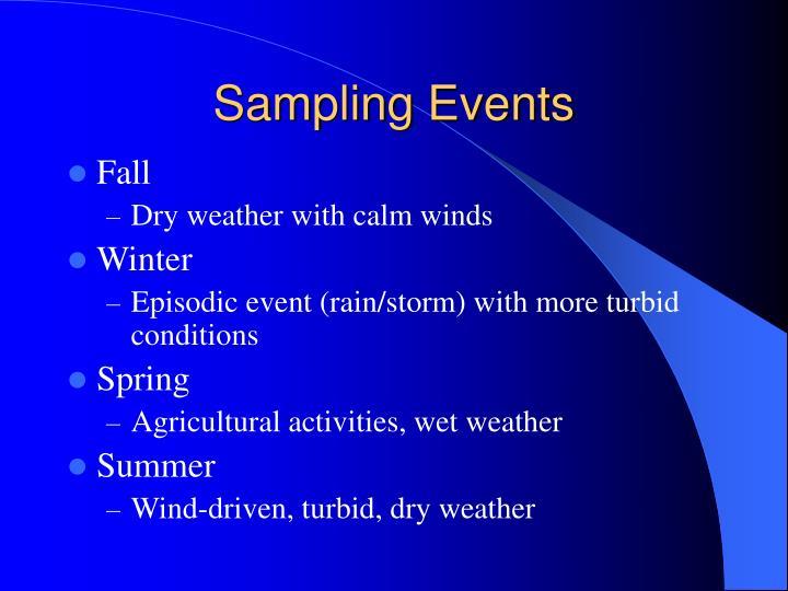Sampling Events