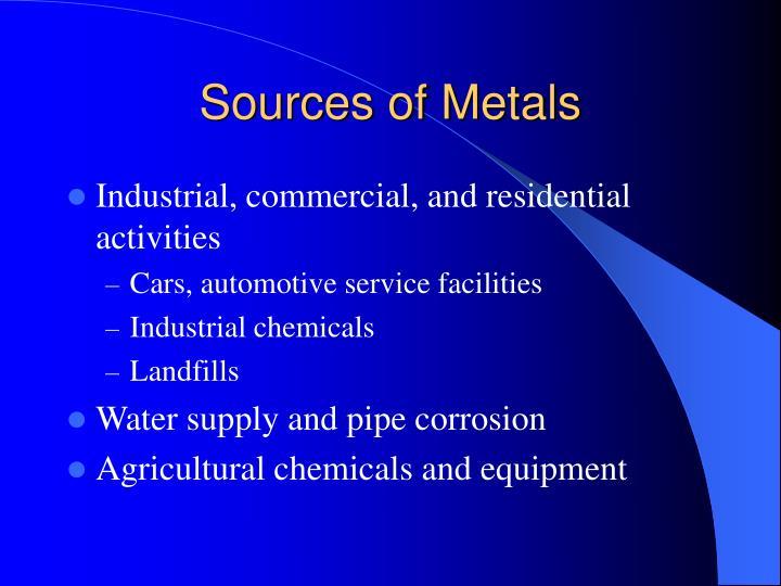 Sources of Metals