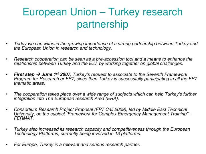 European Union – Turkey research partnership