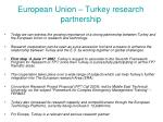 european union turkey research partnership