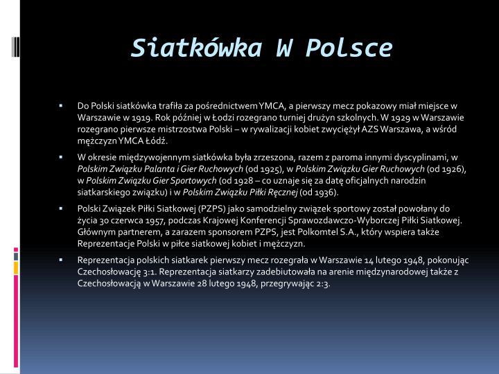 Siatkówka W Polsce