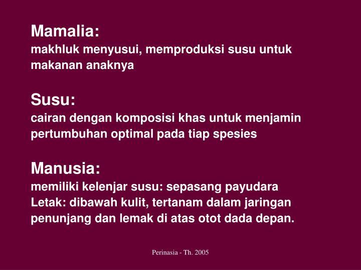 Mamalia: