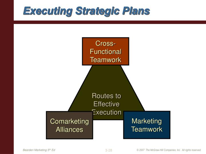 Executing Strategic Plans