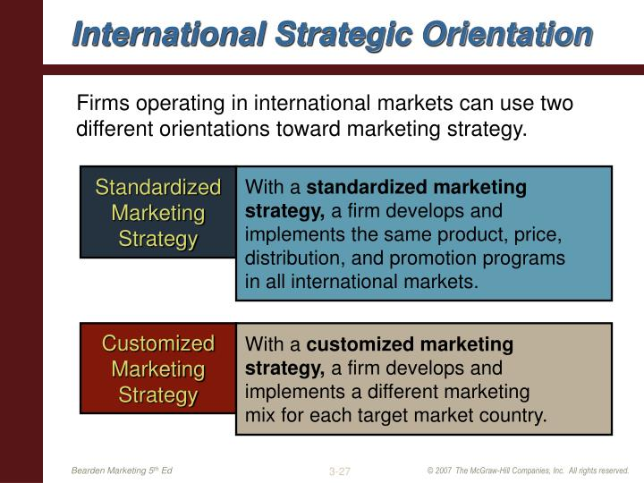 International Strategic Orientation
