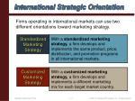 international strategic orientation