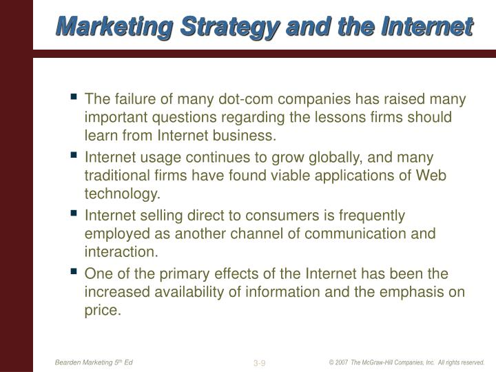 Marketing Strategy and the Internet