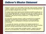 unilever s mission statement