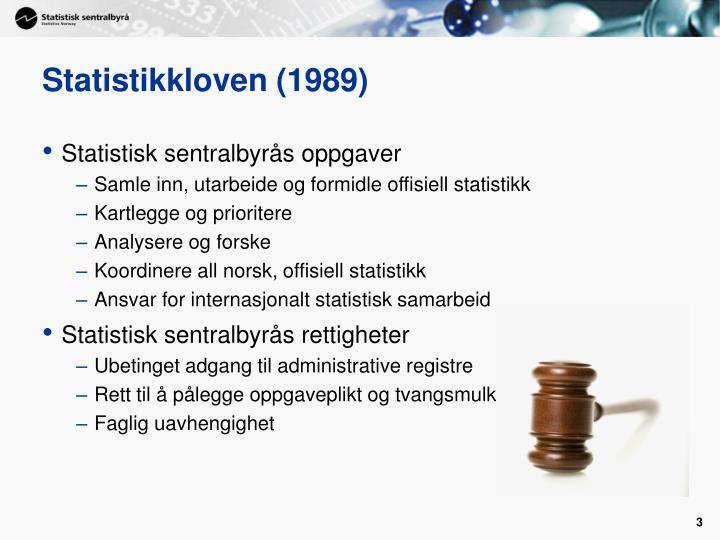 Statistikkloven (1989)