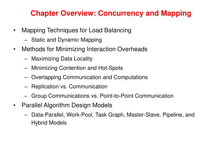 Chapter Overview: Concurrency and Mapping