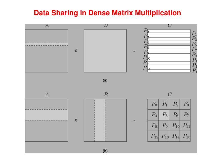 Data Sharing in Dense Matrix Multiplication