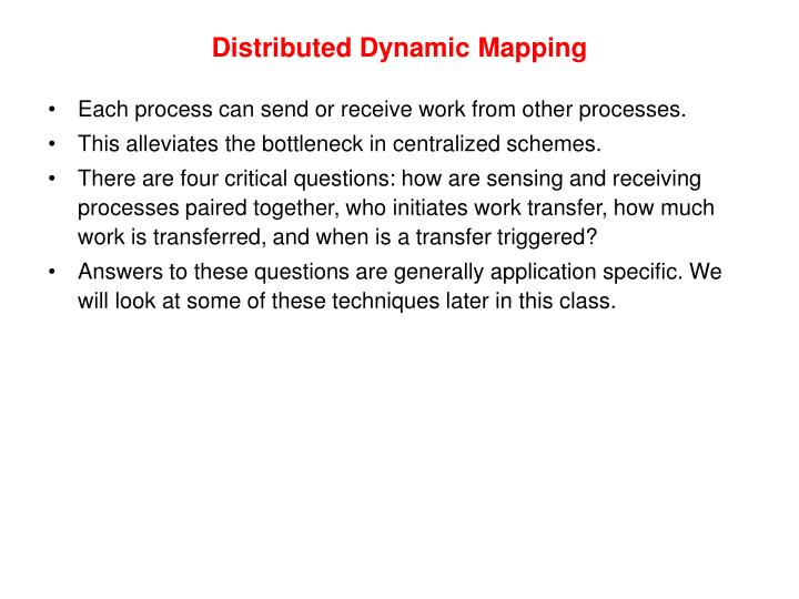Distributed Dynamic Mapping