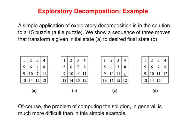 Exploratory Decomposition: Example