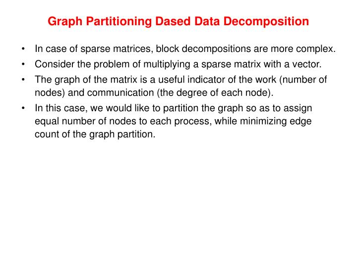 Graph Partitioning Dased Data Decomposition