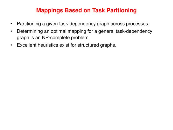 Mappings Based on Task Paritioning