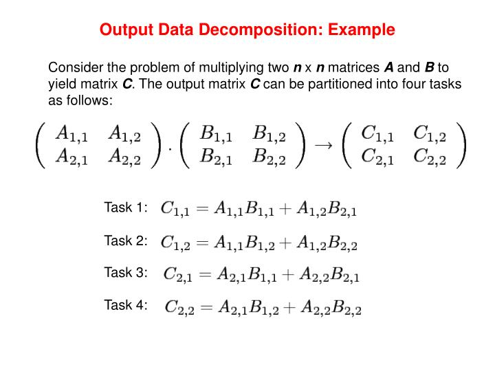 Output Data Decomposition: Example