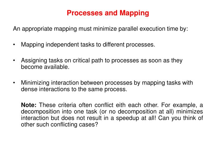 Processes and Mapping