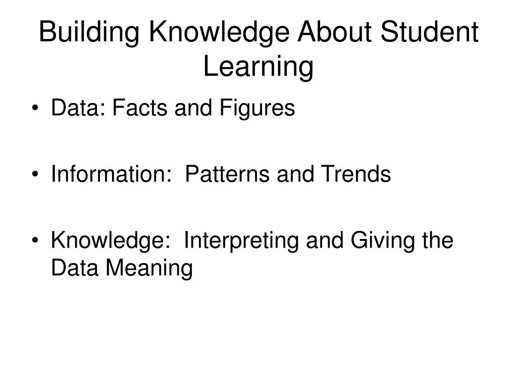 Building Knowledge About Student Learning