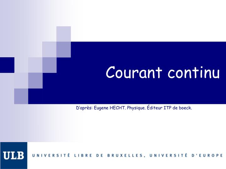 Courant continu