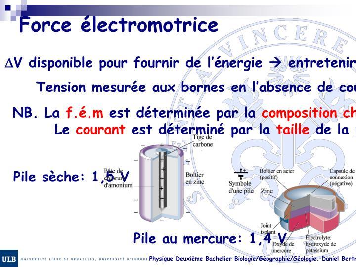 Force électromotrice