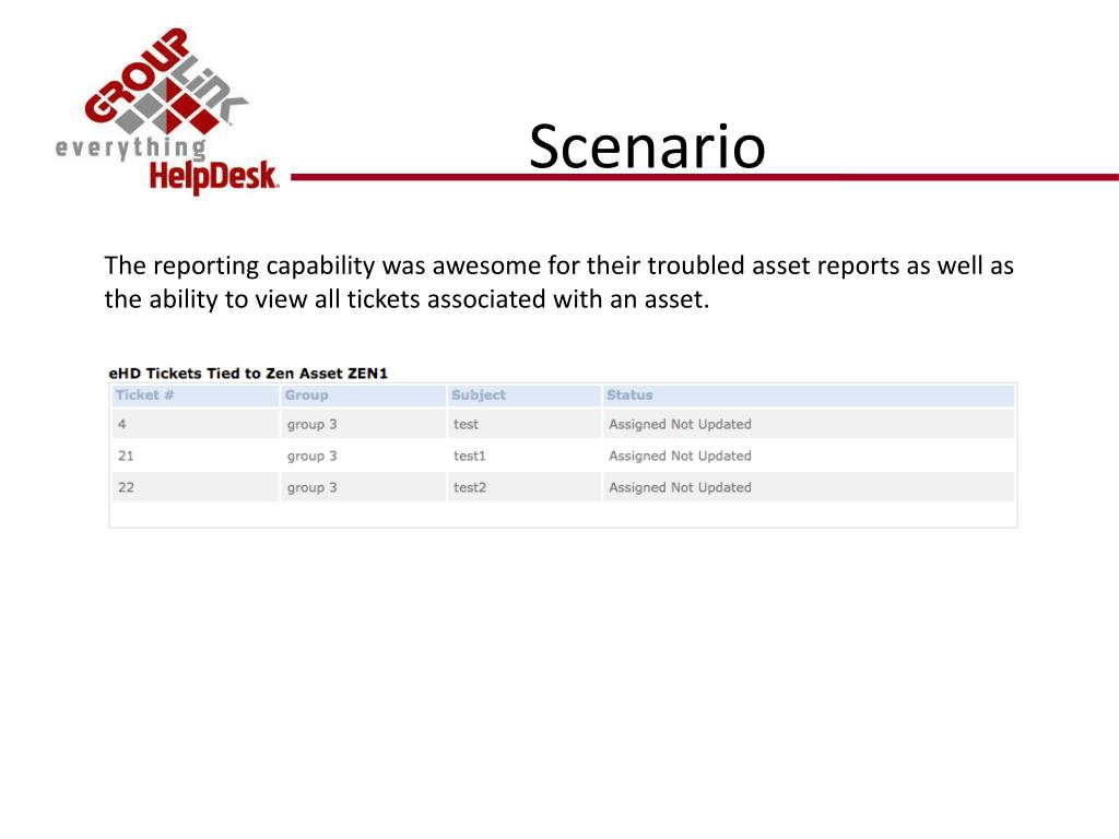 The reporting capability was awesome for their troubled asset reports as well as the ability to view all tickets associated with an asset.