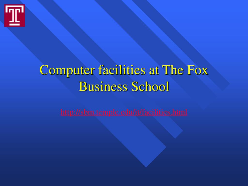 Computer facilities at The Fox Business School