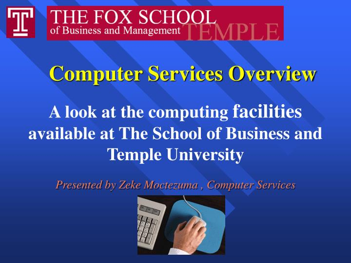 Computer services overview