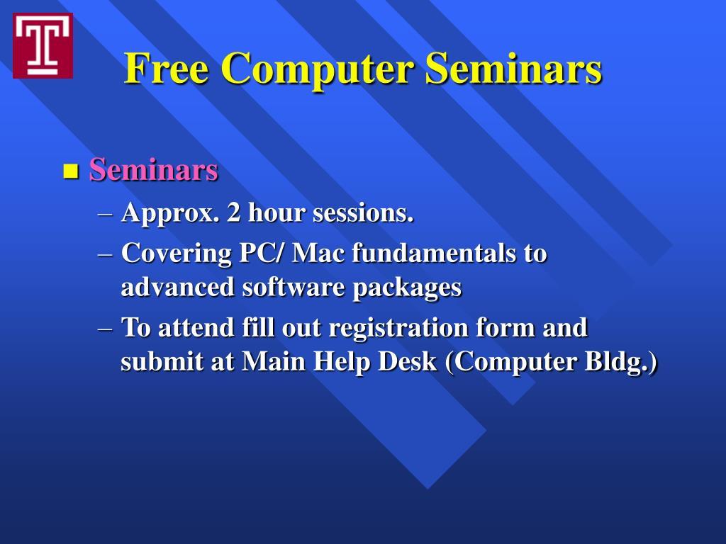 Free Computer Seminars