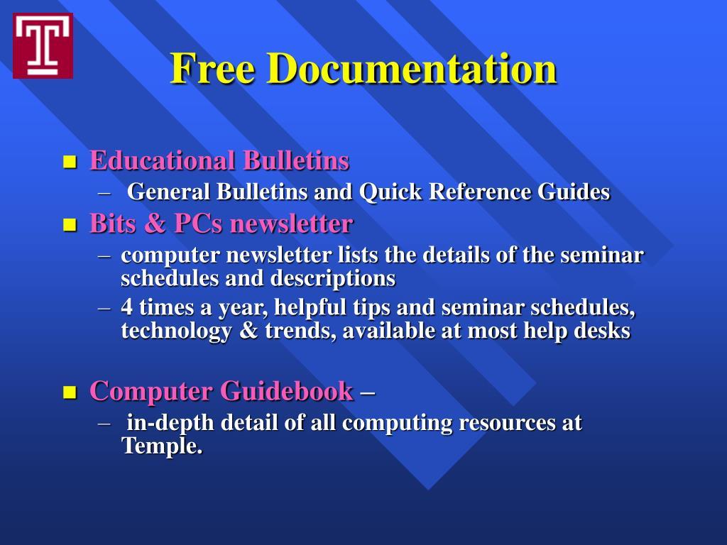 Free Documentation