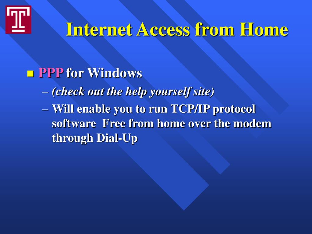 Internet Access from Home