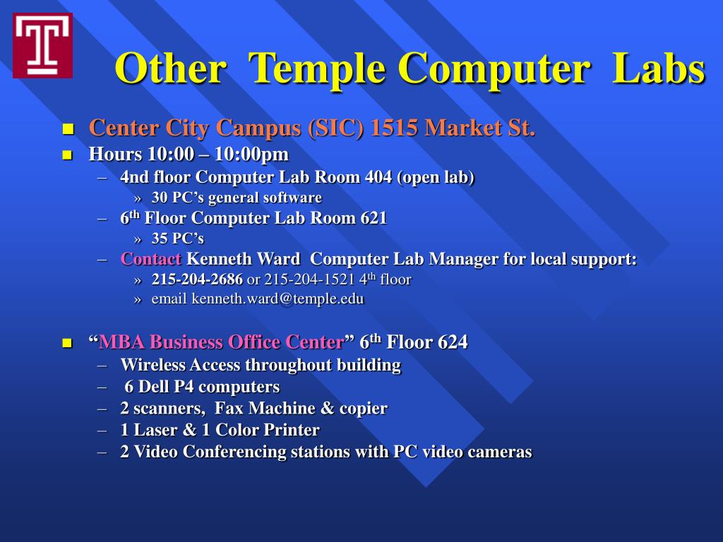 Other  Temple Computer  Labs