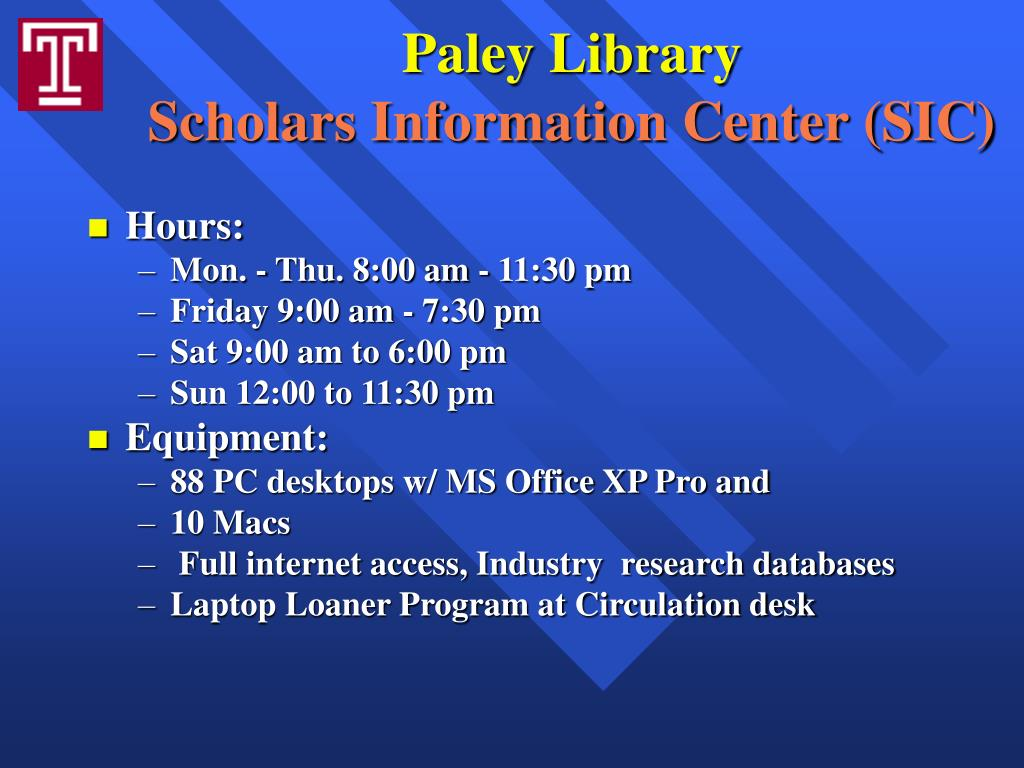 Paley Library