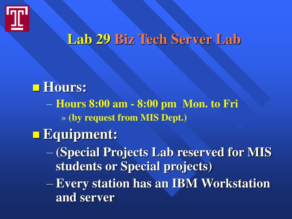 Lab 29
